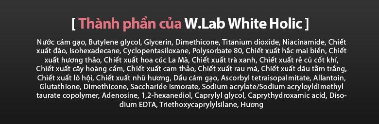 Review kem dưỡng trắng da White Holic 2